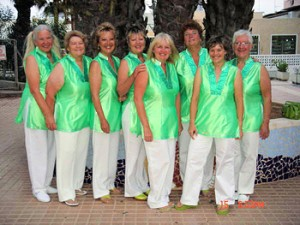 May 2006 Our first Real  Singout in La Manga  10 members 8 singing