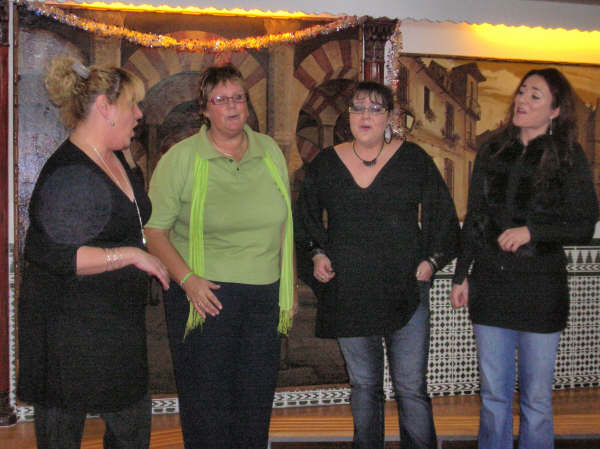 Gail with Just4Voices in Madrid - Dec 2008